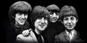 Beatles Caricature Canvas
